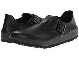 Мокасины (Оригинал) Birkenstock London Soft Footbed Hunter Black Leather
