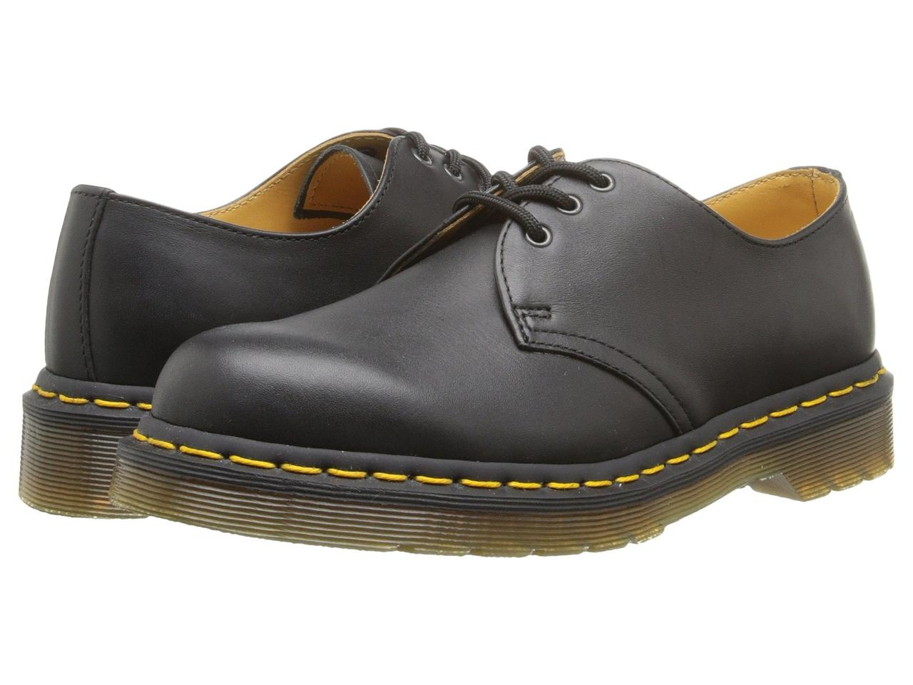 Туфли (Оригинал) Dr. Martens 1461 3-Eye Gibson Black Nappa Leather