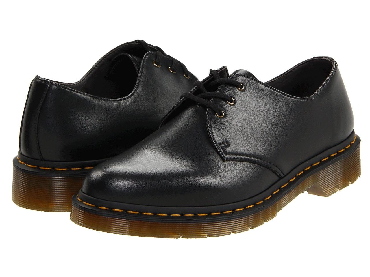 Туфли (Оригинал) Dr. Martens 1461 Vegan 3-Eye Gibson Black