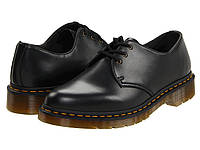 Туфли (Оригинал) Dr. Martens 1461 Vegan 3-Eye Gibson Black, фото 1