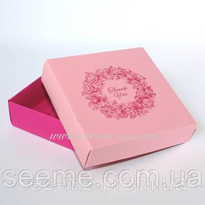 Коробка подарункова «Thank You», 100х100х30 мм.