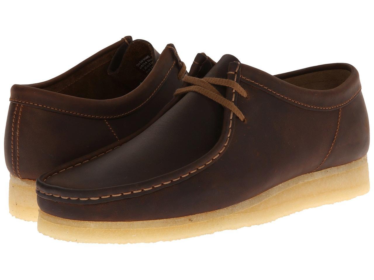 Туфли (Оригинал) Clarks Wallabee Beeswax Leather - TopUSA