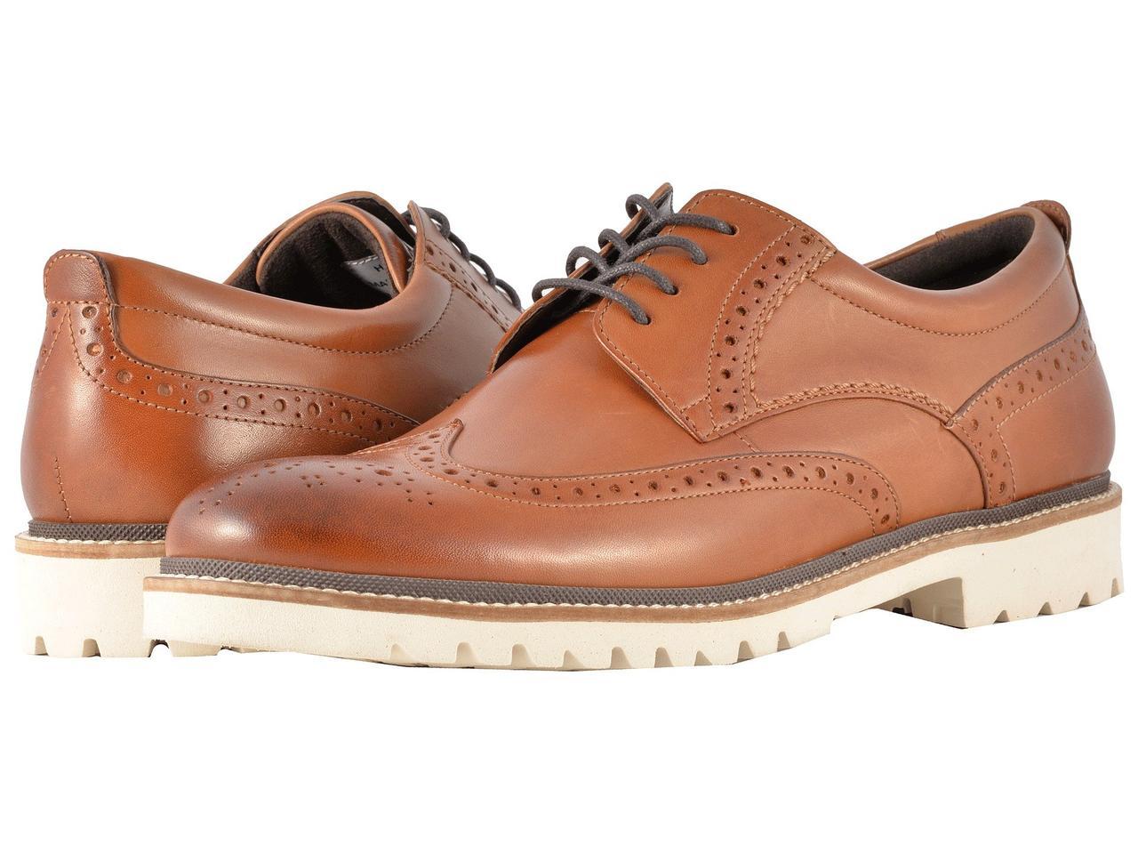 Туфли (Оригинал) Rockport Marshall Wingtip Cognac Leather