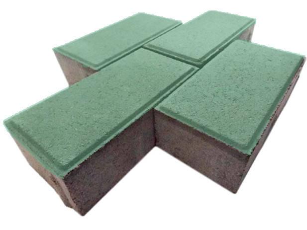 """Тротуарная плитка """"Кирпичик"""", зеленая"""