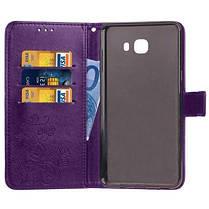 МК счастливый Клевер кобура лист карточки удостоверения личности PU кожаный чехол для Samsung С9 Фиолетовый, фото 3