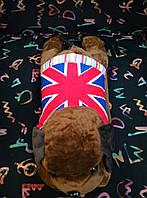 Грелка-игрушка (собачка с флагом) ― аккумулятор муфта  тепла  для рук