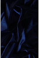 Бархат стрейч темно синий