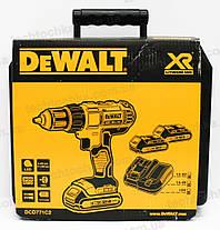 Аккумуляторный шуруповерт DeWALT DCD771C2, фото 3
