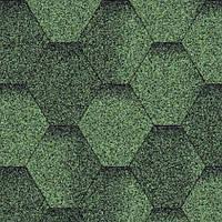 Битумная черепица Aquaizol Мозаика зеленый эко