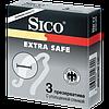 """Презервативы""""Sico Extra Safe"""" №3(увлажненные)с уплотненной стенкой"""