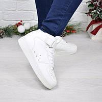 Кроссовки ботинки женские Nike Air Force белые высокие 4045