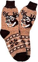"""Шерстяные носки мужские """"Олень коричневый"""""""