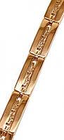 Браслет фирмы Mar,с орнаментом. Цвет - позолота с красным оттенком. Длинна 19 см. Ширина 8 мм.