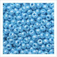 Бисер Preciosa Чехия №68020 голубой , перламутровый , размер 4/0