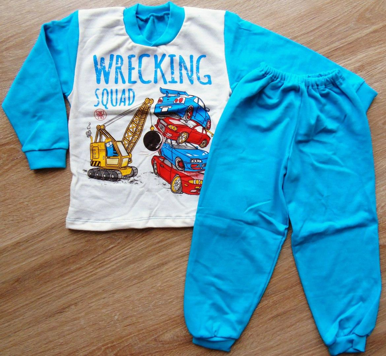 Детская тёплая пижама на байке Тачки WRECKING SQUAD на мальчика