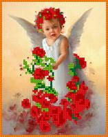 """Набор для вышивки чешским бисером """"Ангел в розах"""""""