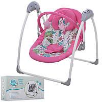 Качели для новорожденных с электроприводом SG111-8, розовый