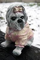 Собачка Йорк в свитере копилка 21 см.