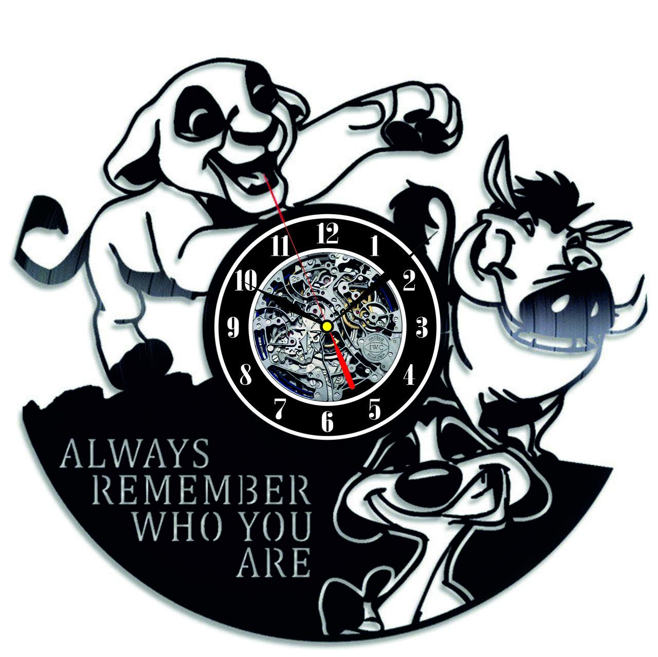 Настенные часы из виниловых пластинок LikeMark Lion King