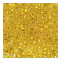 Бисер Preciosa Чехия №87010 желтый , матовый блестящий , размер 4/0