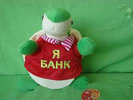 Копилка черепаха 25 см мягкая игрушка черепаха в красной футболке оригинальный подарок