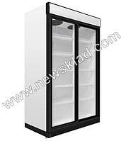 Шкаф холодильный,стеклянные двери-купе,1510 литров