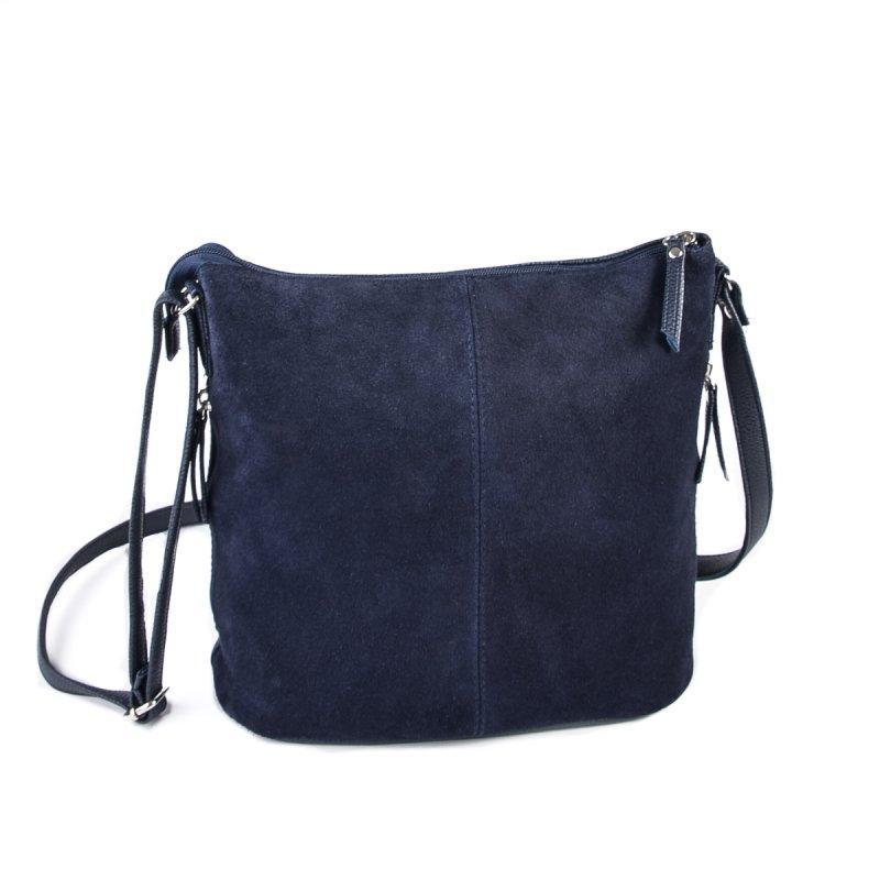 835ce073d5fb Синяя замшевая сумка на плечо М78-замш/39 женская на молнии - Интернет  магазин