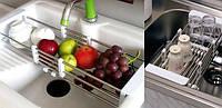 Сушка для фруктов и овощей универсальная на раковину Shui Lan, сушка для посуды на раковину