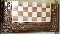 Набір шахмати шашки та нарди 3в1 ручної роботи  об'ємна різьба
