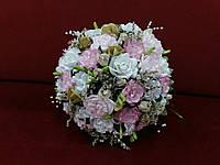 Свадебный букет-дублер бело розовый