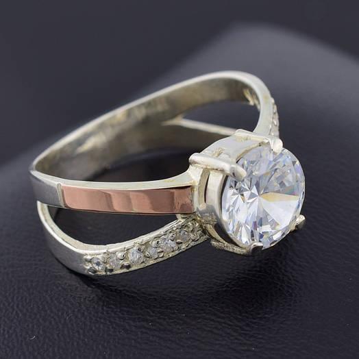 """Серебряное кольцо """"Мария"""", вставка белыефианиты, вес 5.1 г, размер 17"""