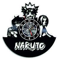Настенные часы из виниловых пластинок LikeMark Naruto