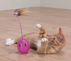 "Trixie TX-46016 Игрушка для кошки ""Pop-Up-Egg"" с перьями,музыкой и лакомсвами"