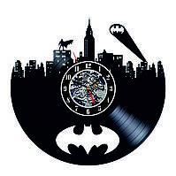 Настенные часы из виниловых пластинок LikeMark Batman