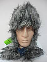 Теплая headwear шапка-ушанка синяя  Розница