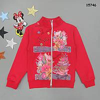 """Утепленная кофта """"Цветы"""" для девочки. 5, 6, 7, 8 лет"""