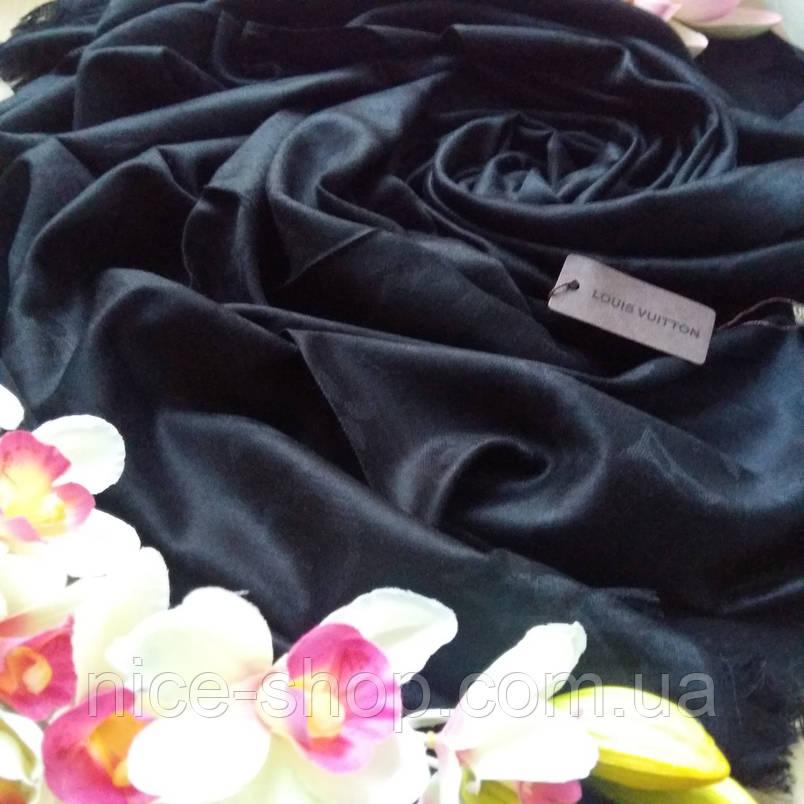 Палантин  Louis Vuitton черный, фото 2