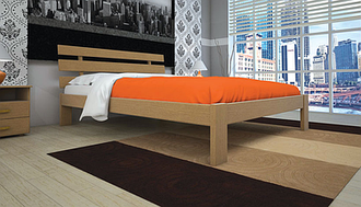 Деревянная кровать Домино
