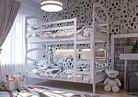 Кровать детская двухъярусная трансформер Наутилус из натурального дерева, фото 1