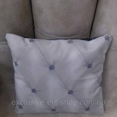 Подушка декоративная синяя