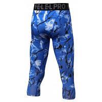 Спортивных печатных бег брюки Капри для мужчин L