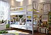 Кровать трансформер детская двухъярусная деревянная Виктория