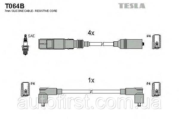 Высоковольтные провода Tesla T064B для VW