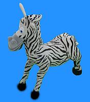 Зебра 50 см игрушка мягкая музыкальная плюшевая зебра стоячая игрушки для детей