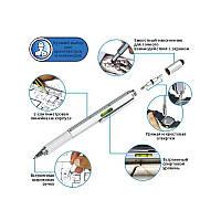 Многофункциональная тактическая ручка 6 в 1: стилус, 2 отвёртки, уровень, линейка