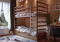 Кровать трансформер детская двухъярусная деревянная Эля, фото 1