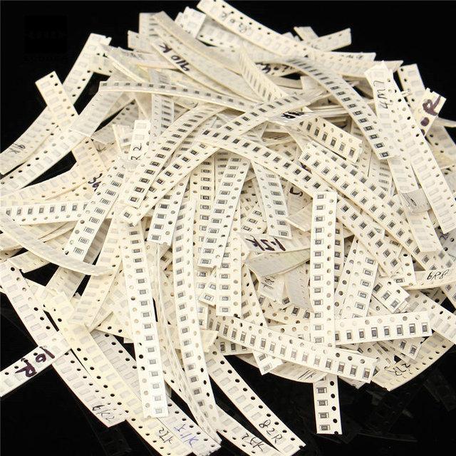 Резисторы набор 1250 шт. 1206 SMD 50 номиналов по 25 штук