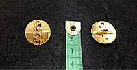 Пуговицы металлические на ножке П-33