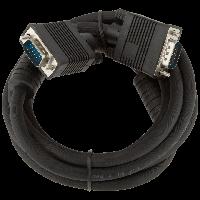 Кабель для монитора VGA -2.0BK, 2.0м черный, с двумя ферритовыми кольцами