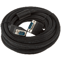 Кабель для монитора VGA -7.0BK, 7.0м черный, с двумя ферритовыми кольцами